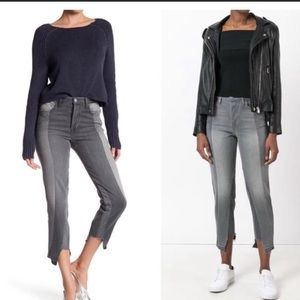 Frame High Nouveau Le Mix Rise Raw Hem Denim Jeans